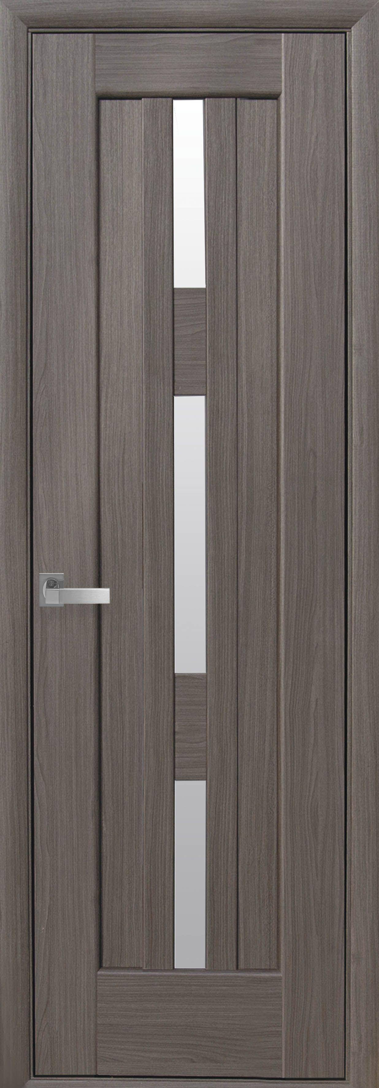 Межкомнатные двери Лаура (600мм) со стеклом сатин