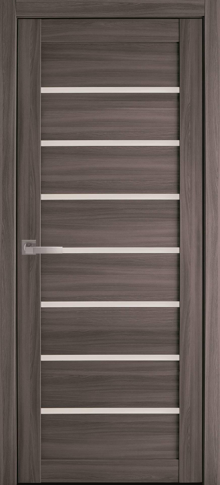 Межкомнатные двери Леона со стеклом сатин