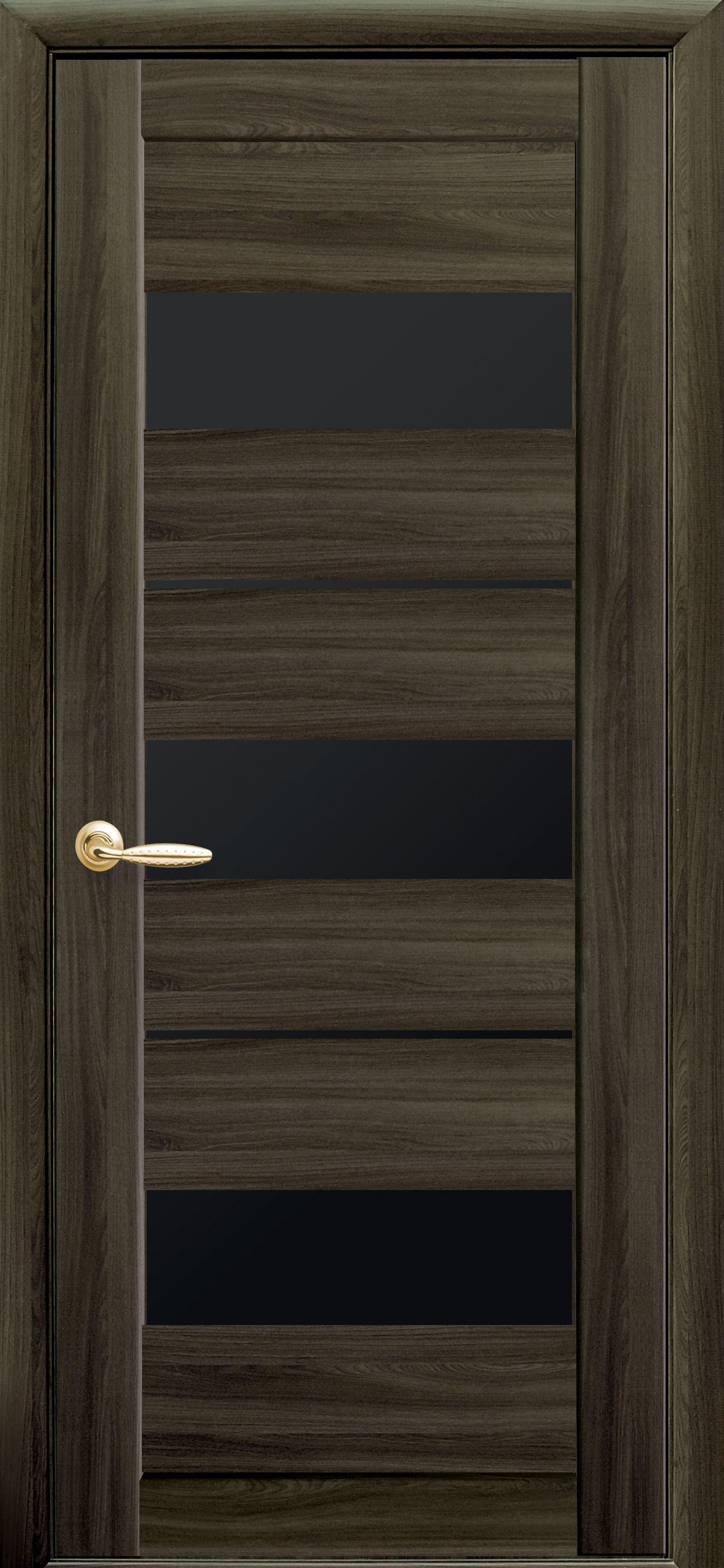 Межкомнатные двери Лилу с черным стеклом
