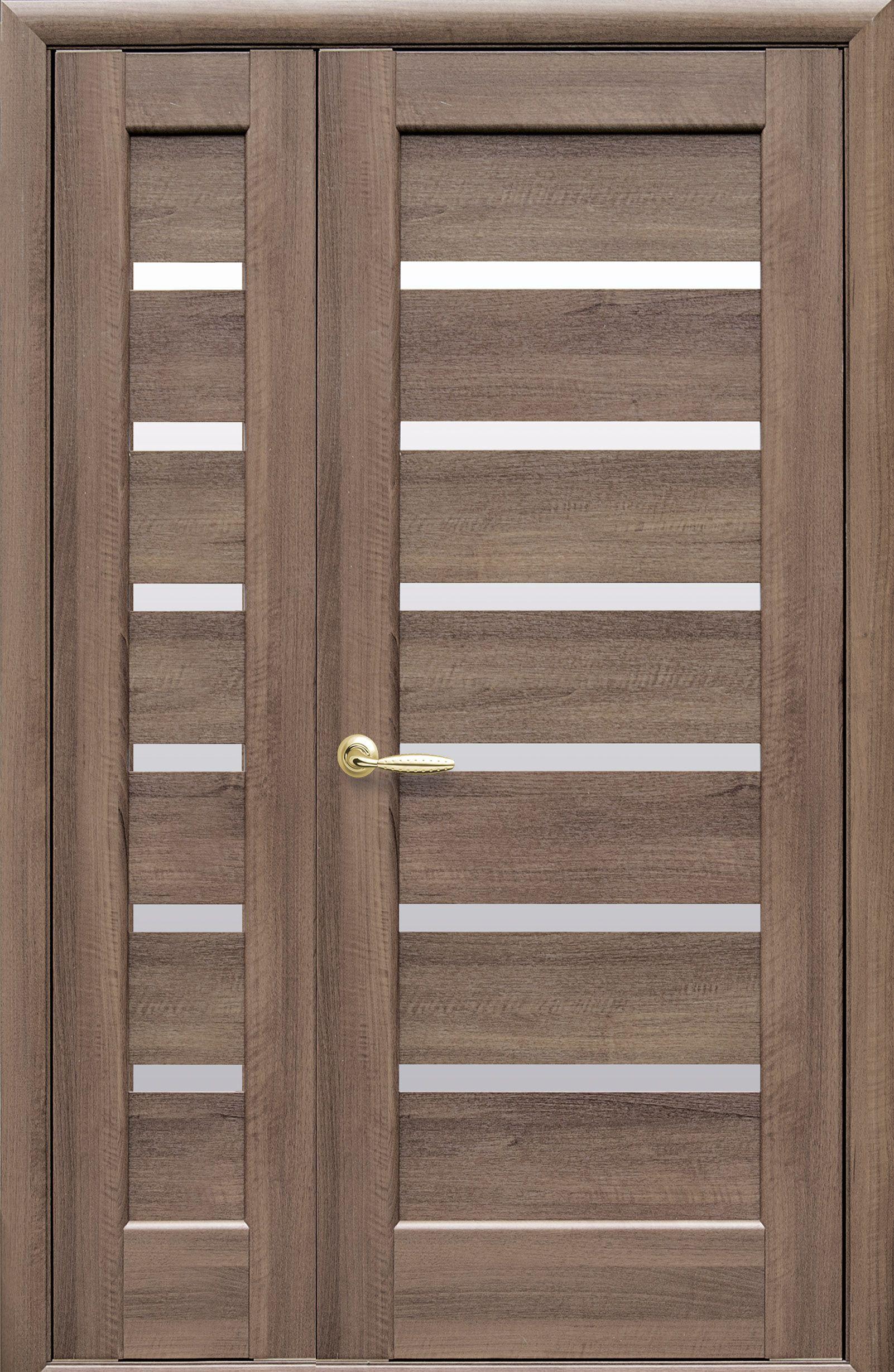 Двойные межкомнатные двери Линнея со стеклом сатин