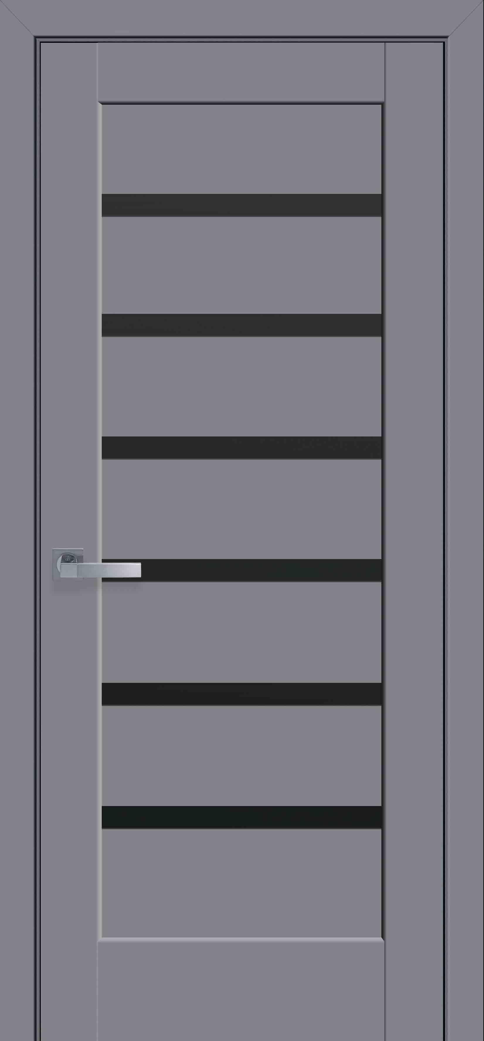 Межкомнатные двери Линнея с черным стеклом