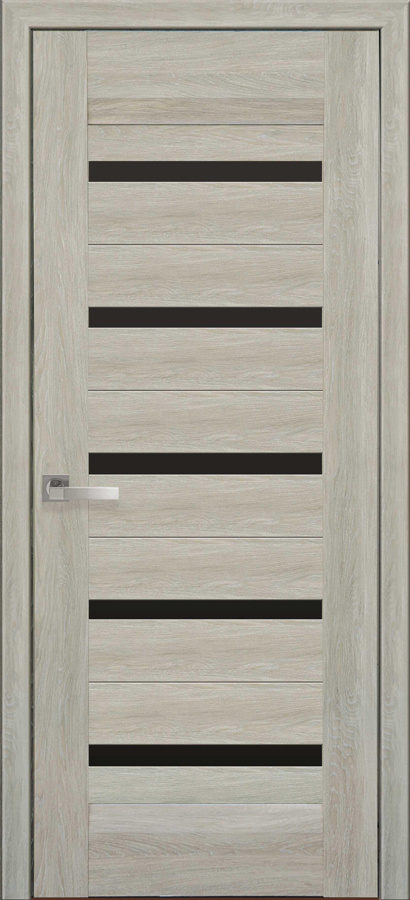 Межкомнатные двери Лира с черным стеклом