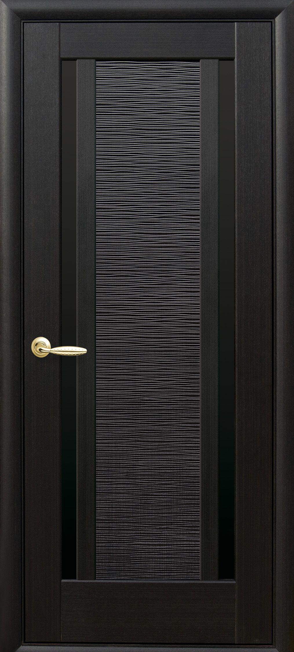 Межкомнатные двери Луиза с черным стеклом
