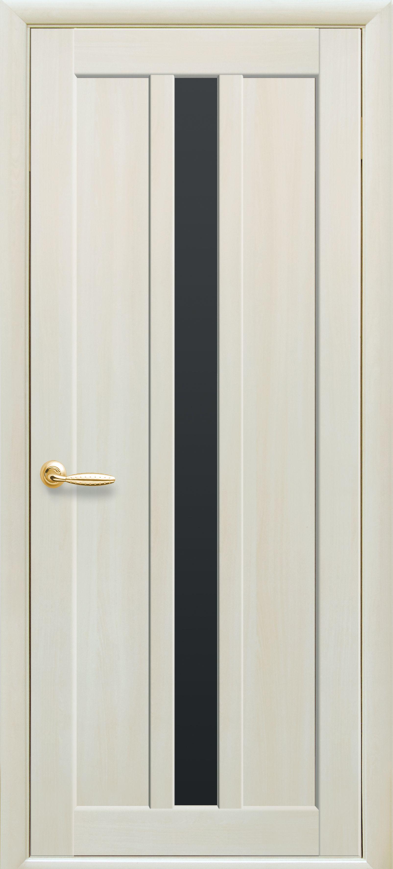 Межкомнатные двери Марти с черным стеклом