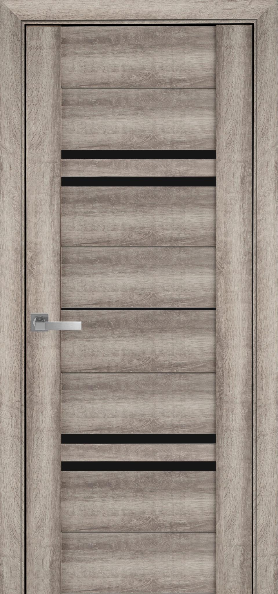 Межкомнатные двери Мерида с черным стеклом