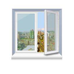 Металлопластиковое окно KBE стандартное 1300x1400 мм