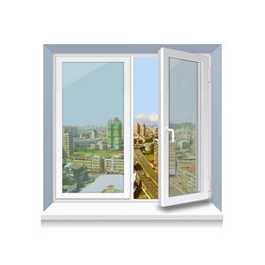 Металлопластиковое окно Rehau стандартное 1300x1400 мм