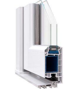 Металлопластиковые входные двери Rehau ламинация в массе