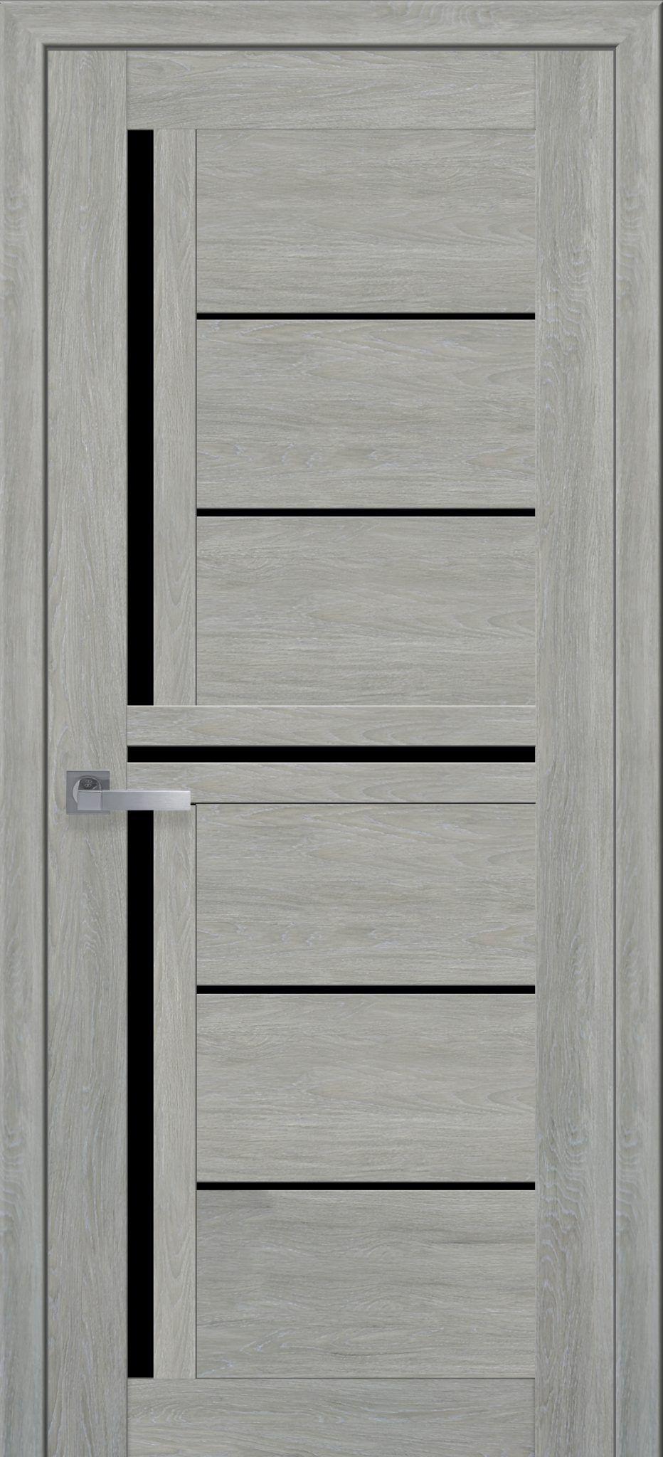 Межкомнатные двери Диана с черным стеклом