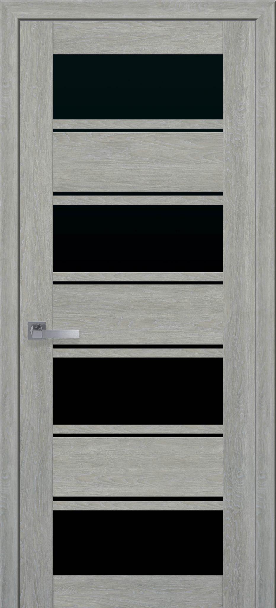 Межкомнатные двери Элиза с черным стеклом
