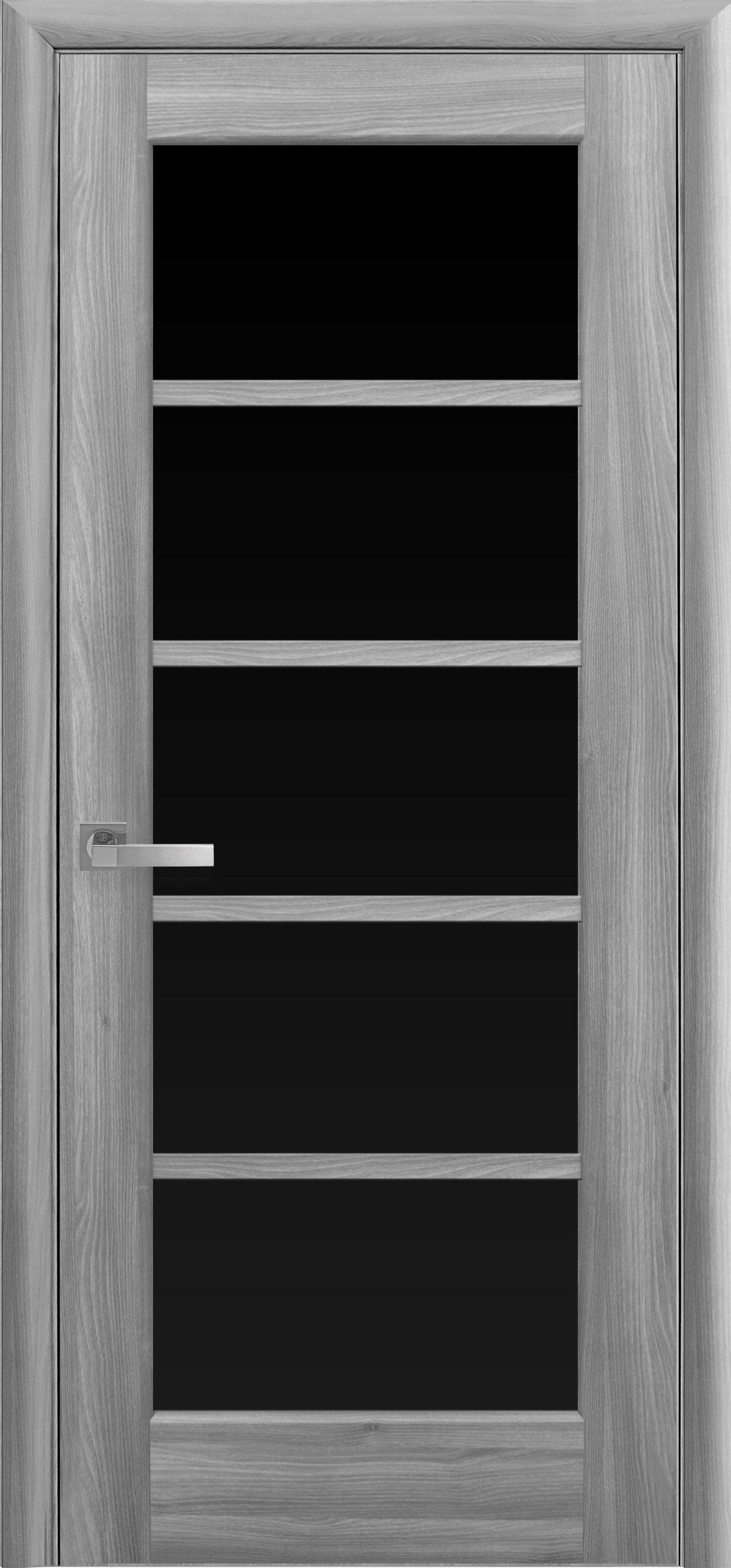 Межкомнатные двери Муза с черным стеклом