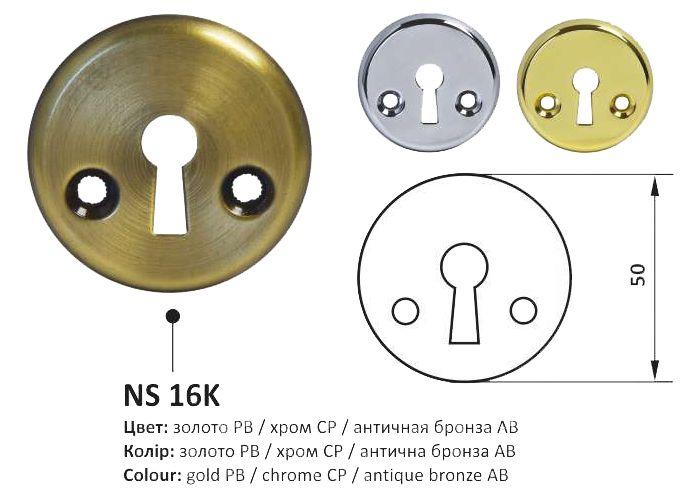 Накладка NS Z55 KVADRO X круглая