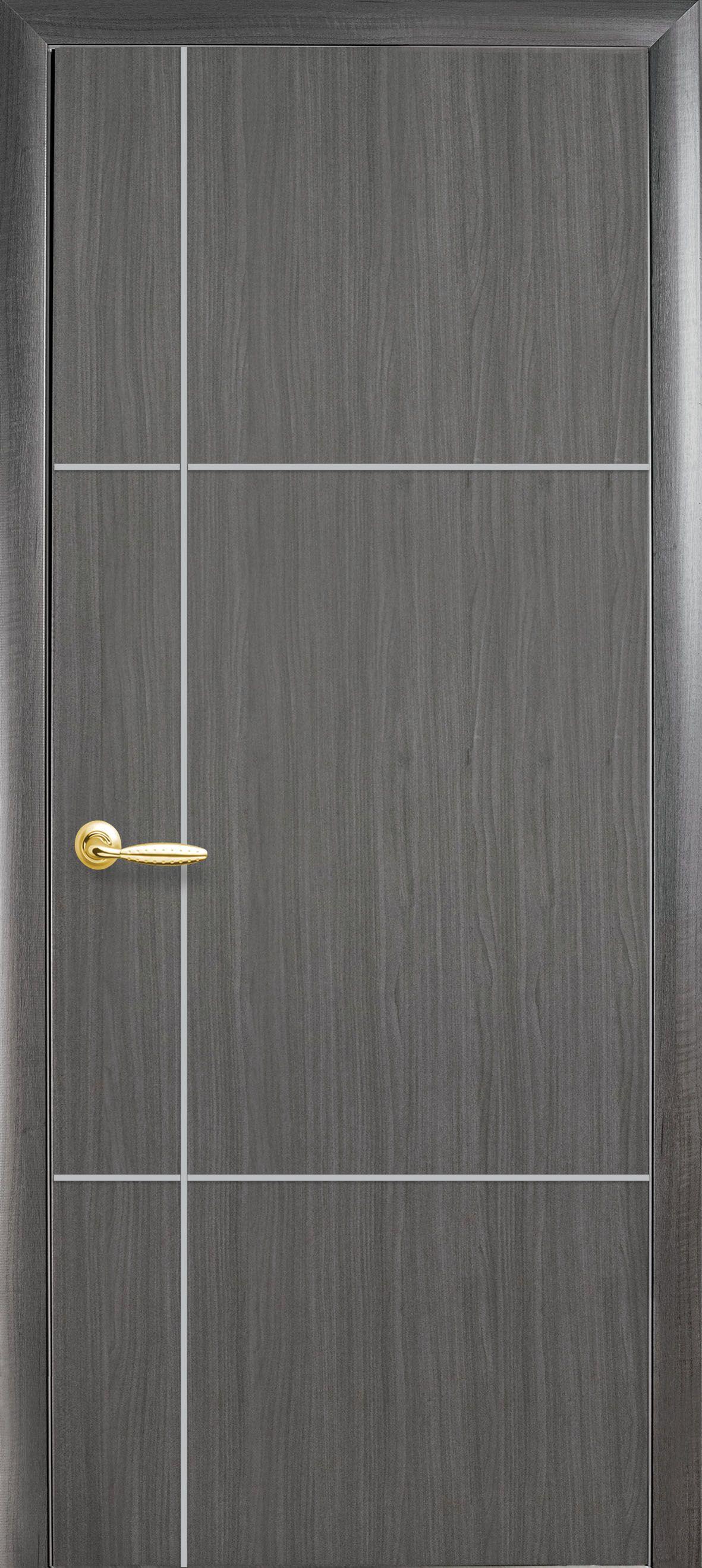Межкомнатные двери Ника silver глухое с гравировкой Silver