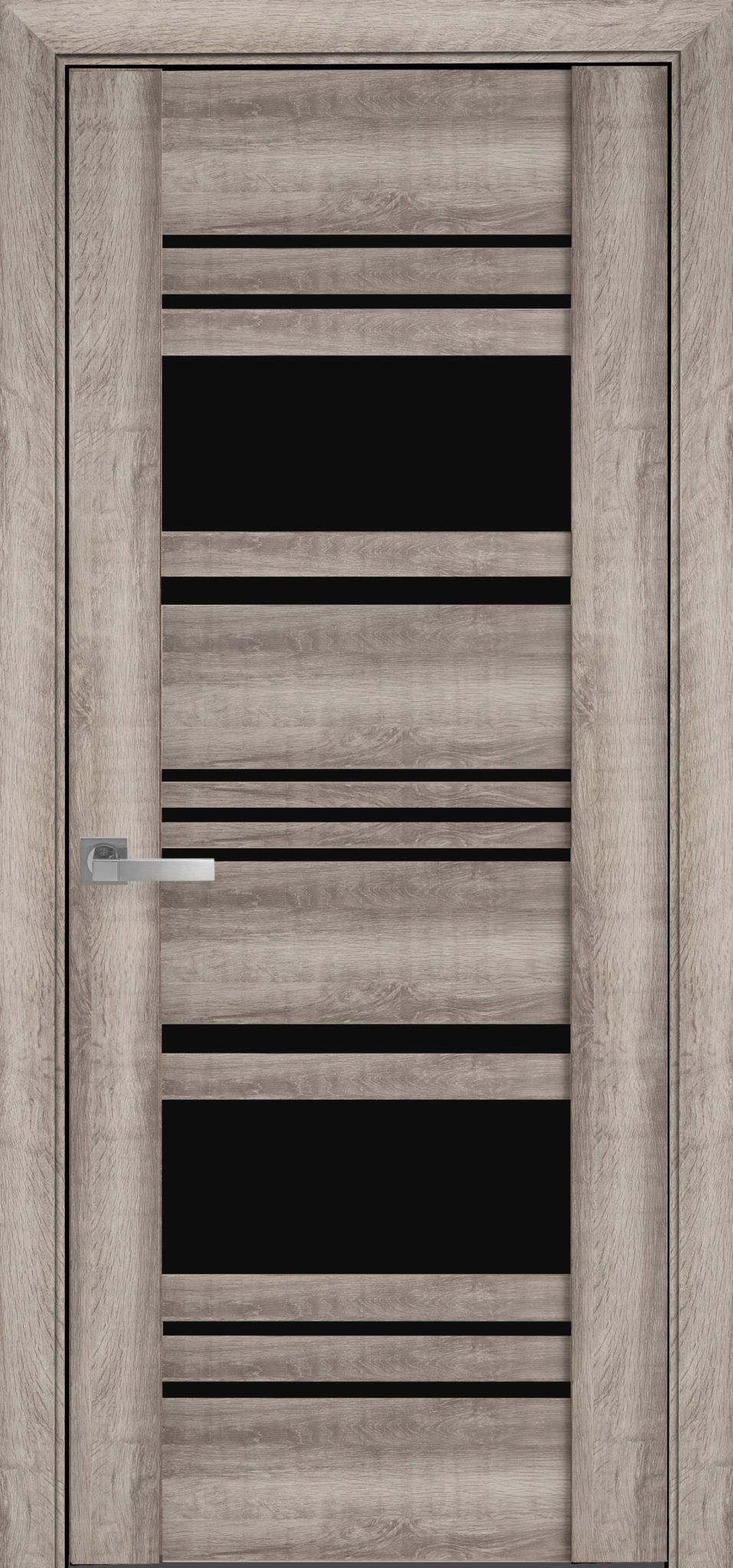 Межкомнатные двери Ницца с черным стеклом