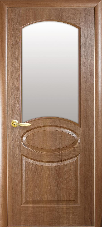 Межкомнатные двери Овал со стеклом сатин