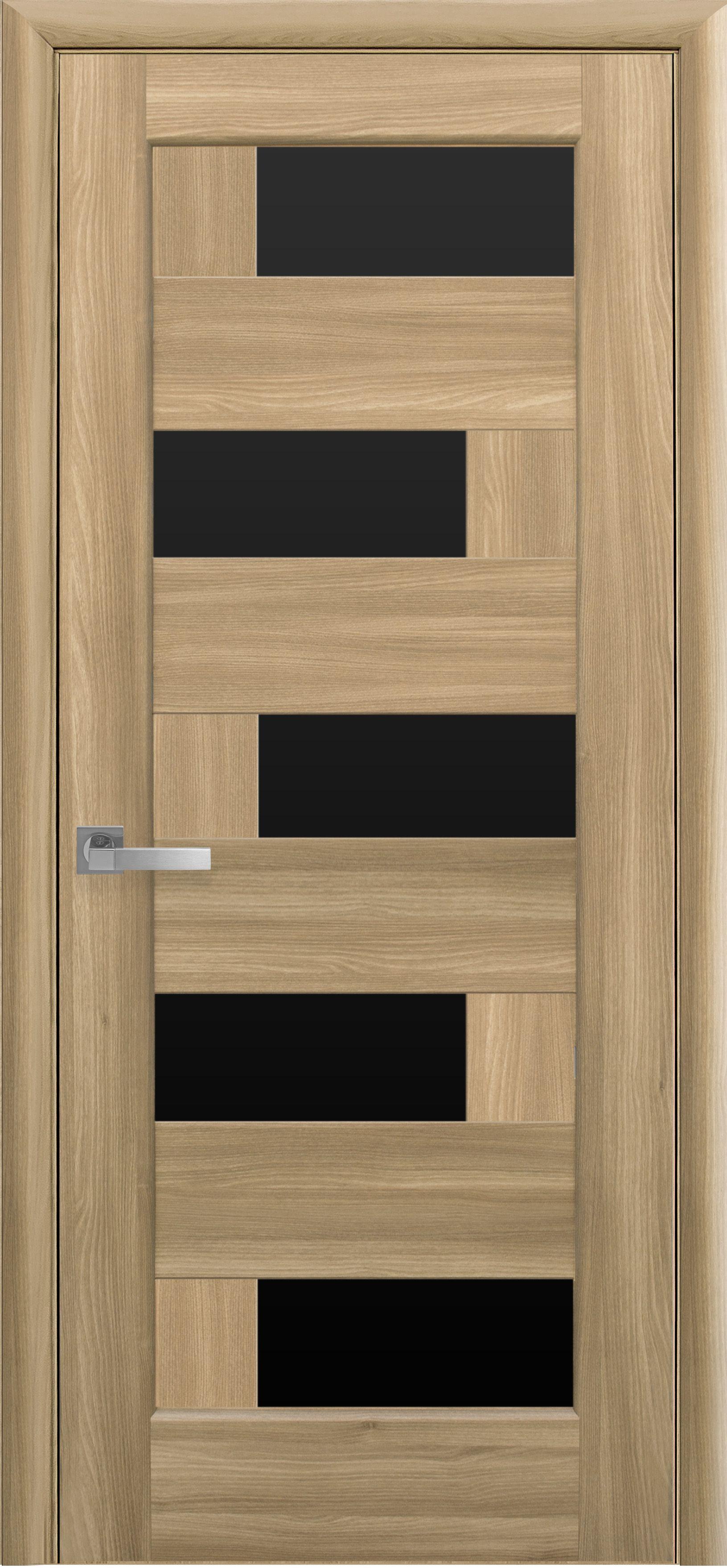 Межкомнатные двери Пиана с черным стеклом