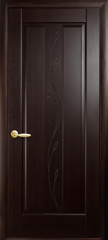 Межкомнатные двери Премьера глухое с гравировкой