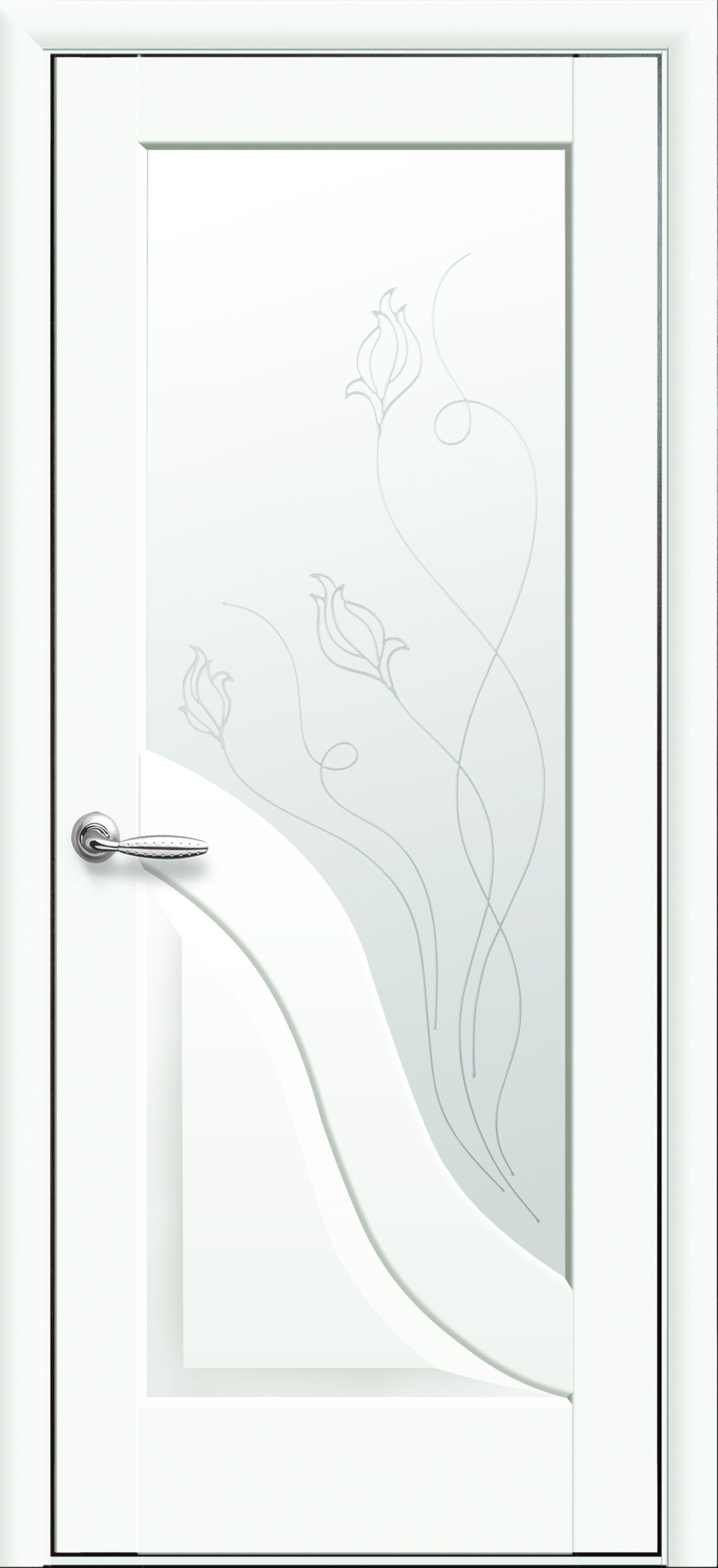 Межкомнатные двери Амата со стеклом сатин и рисунком