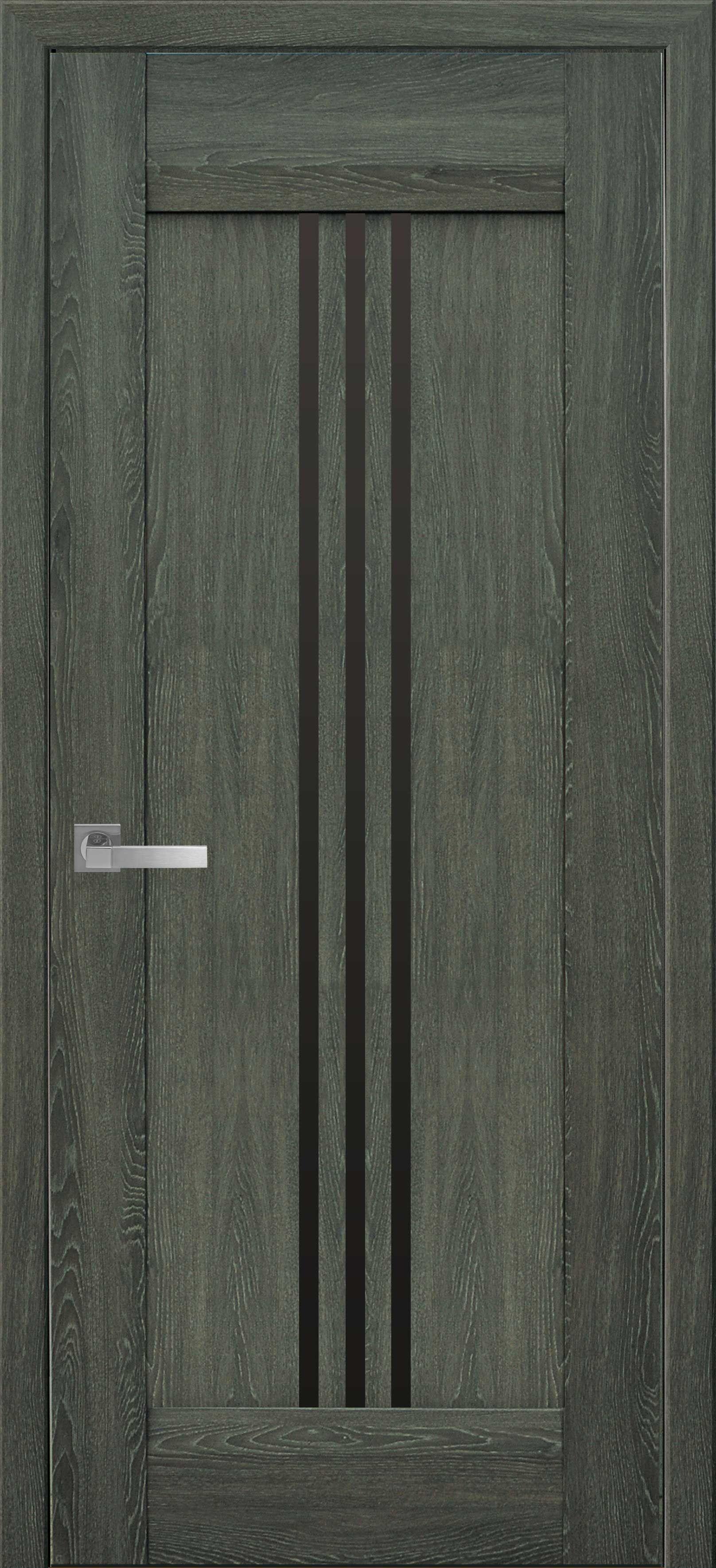 Межкомнатные двери Рейс с черным стеклом