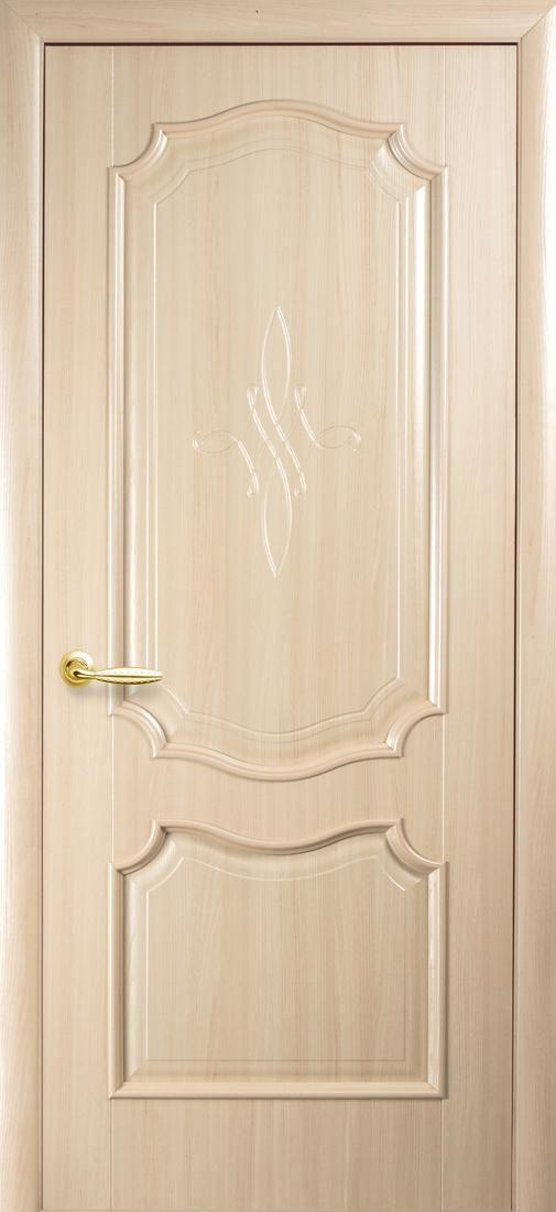 Межкомнатные двери Рока глухое с гравировкой