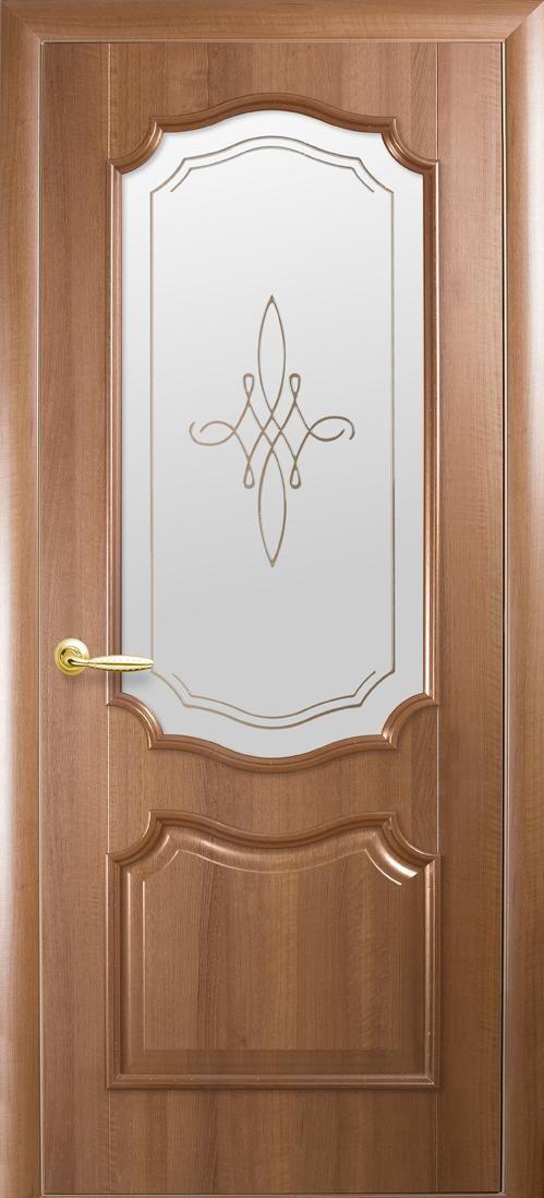 Межкомнатные двери Рока со стеклом сатин и рисунком