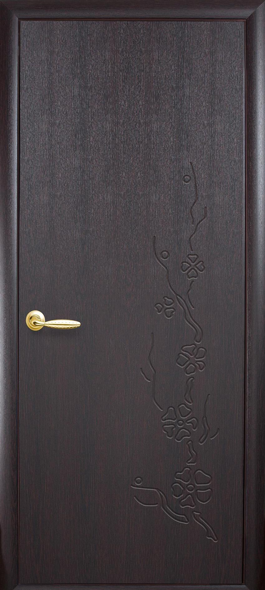 Межкомнатные двери Сакура глухое с гравировкой
