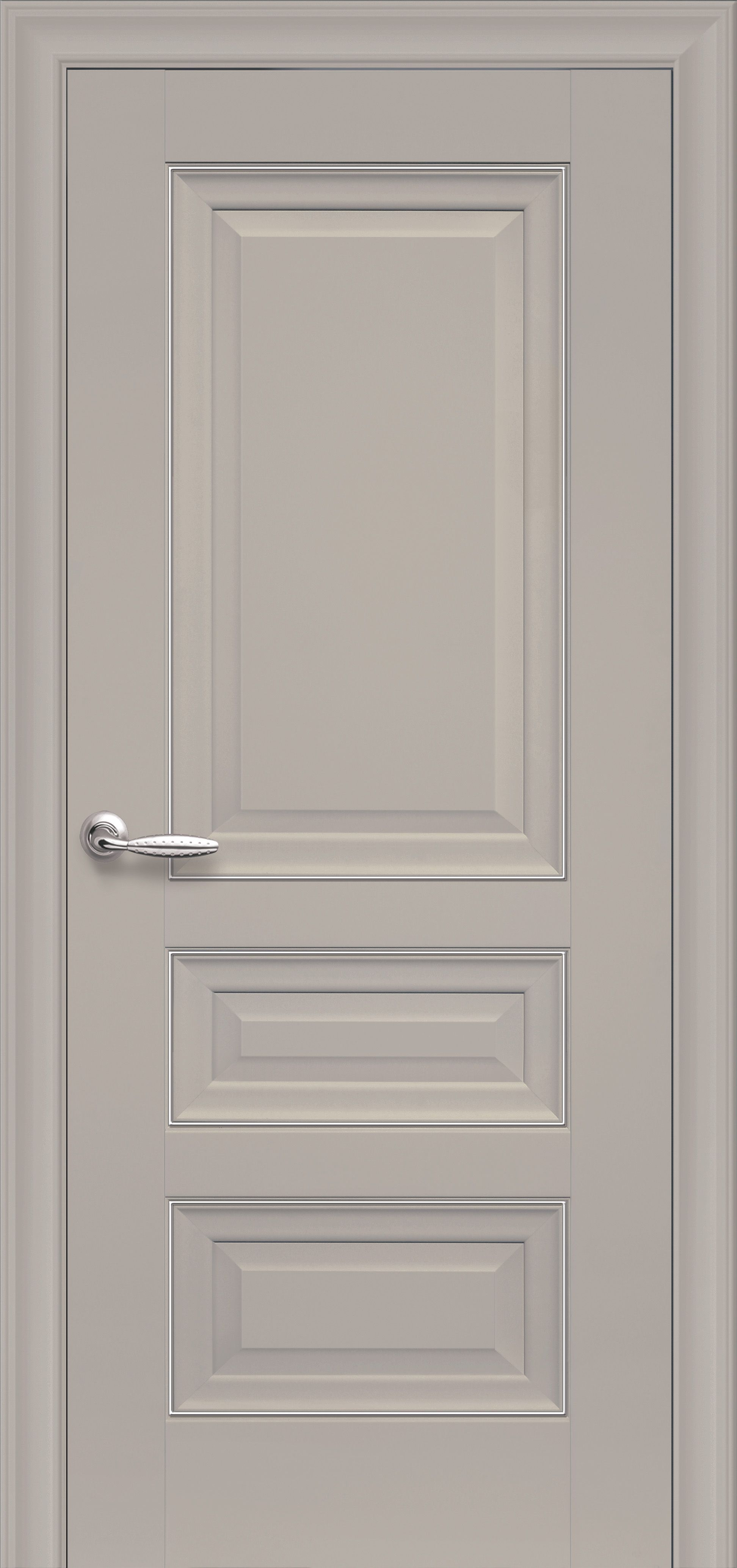 Межкомнатные двери Статус Глухое с молдингом