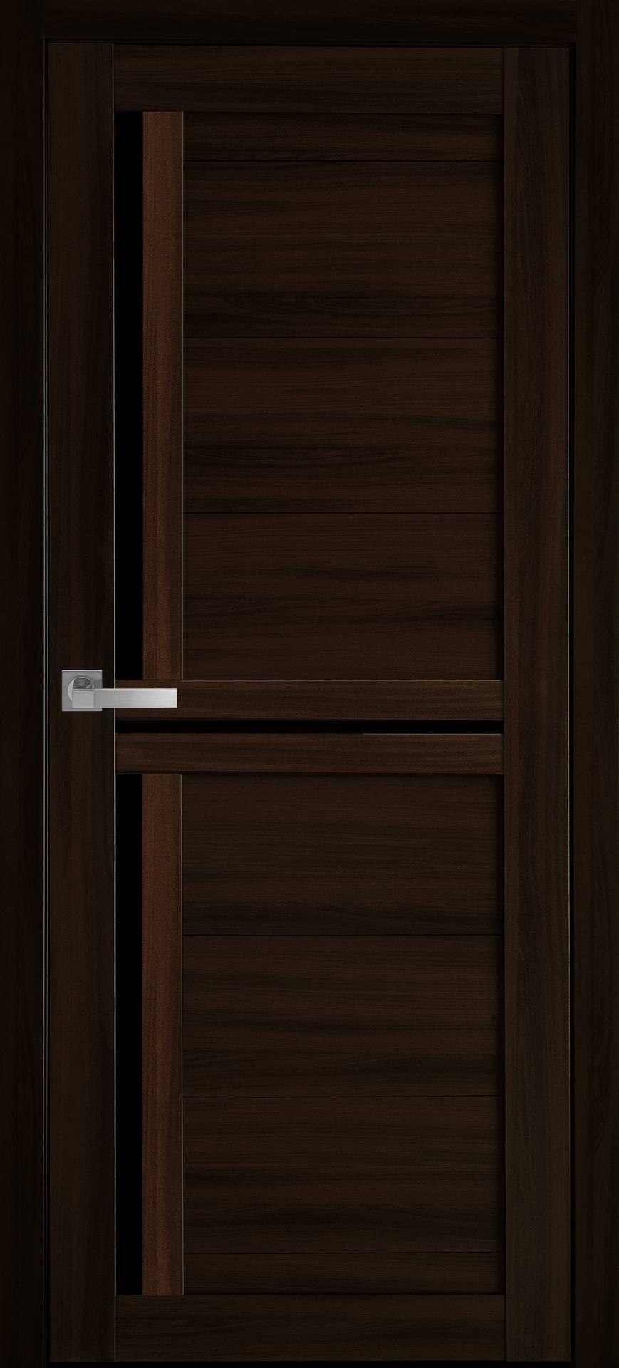 Межкомнатные двери Тринити с черным стеклом