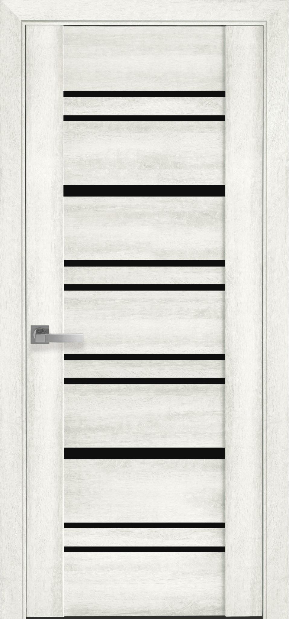 Межкомнатные двери Валенсия с черным стеклом