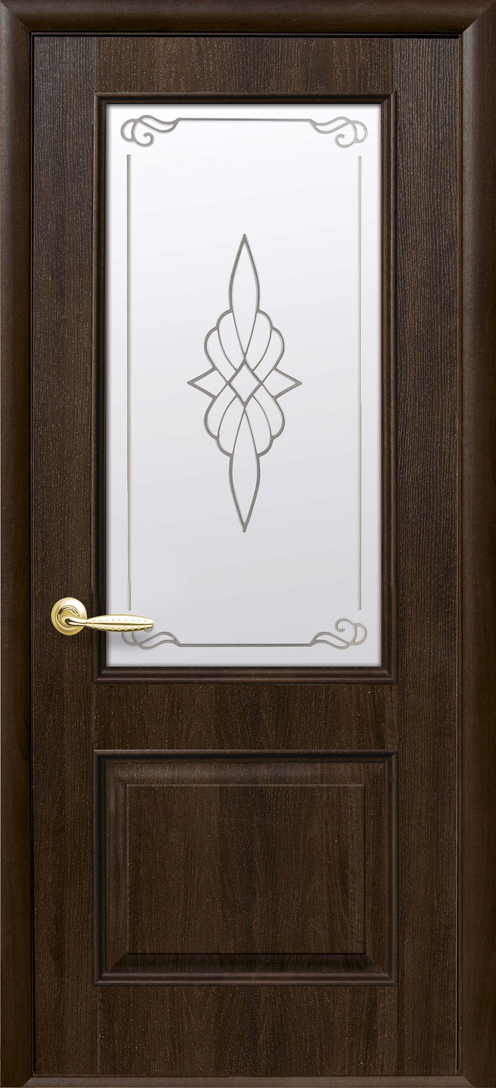 Межкомнатные двери Вилла со стеклом сатин и рисунком