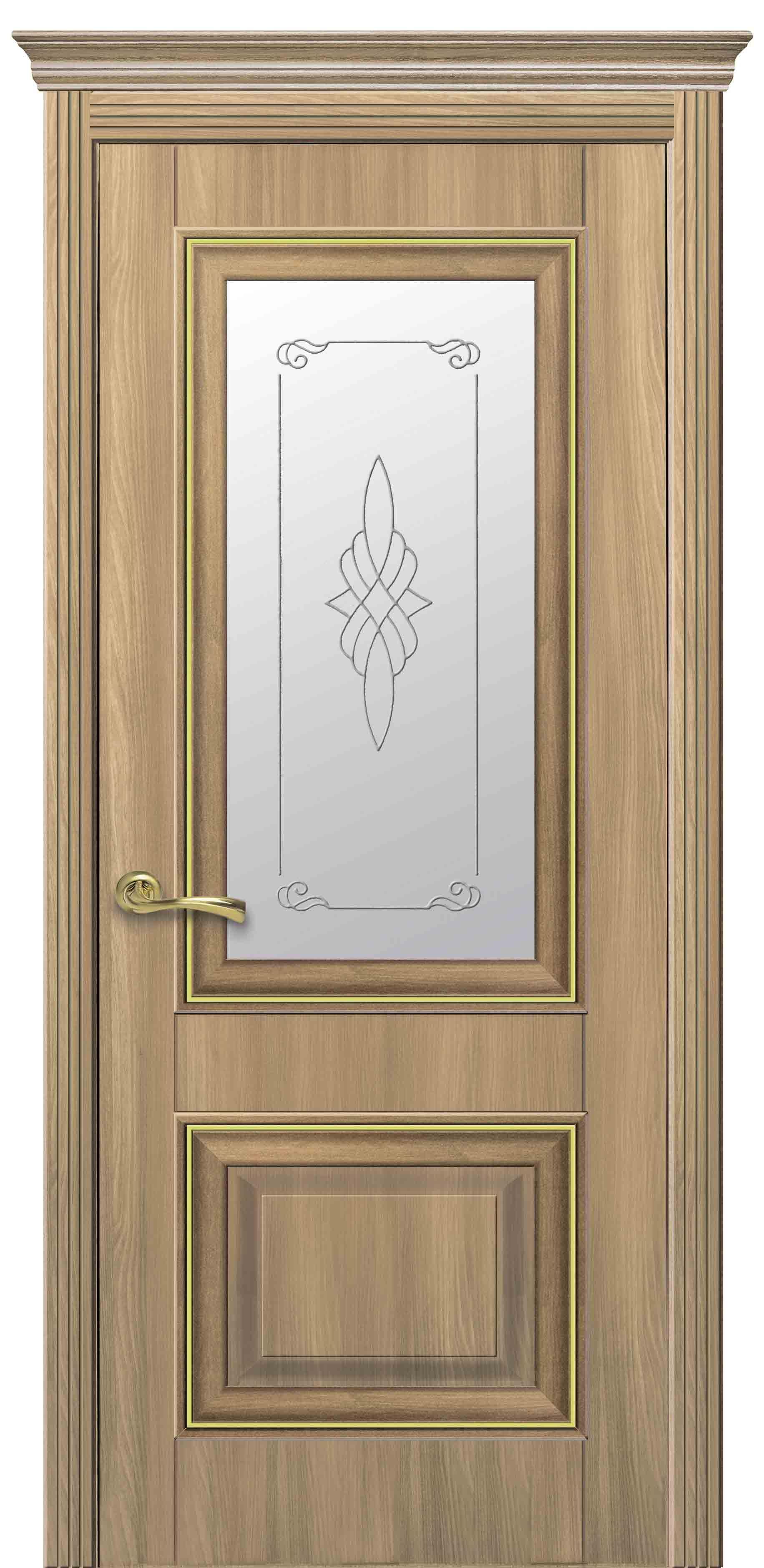 Межкомнатные двери Вилла Премиум со стеклом сатин и рисунком