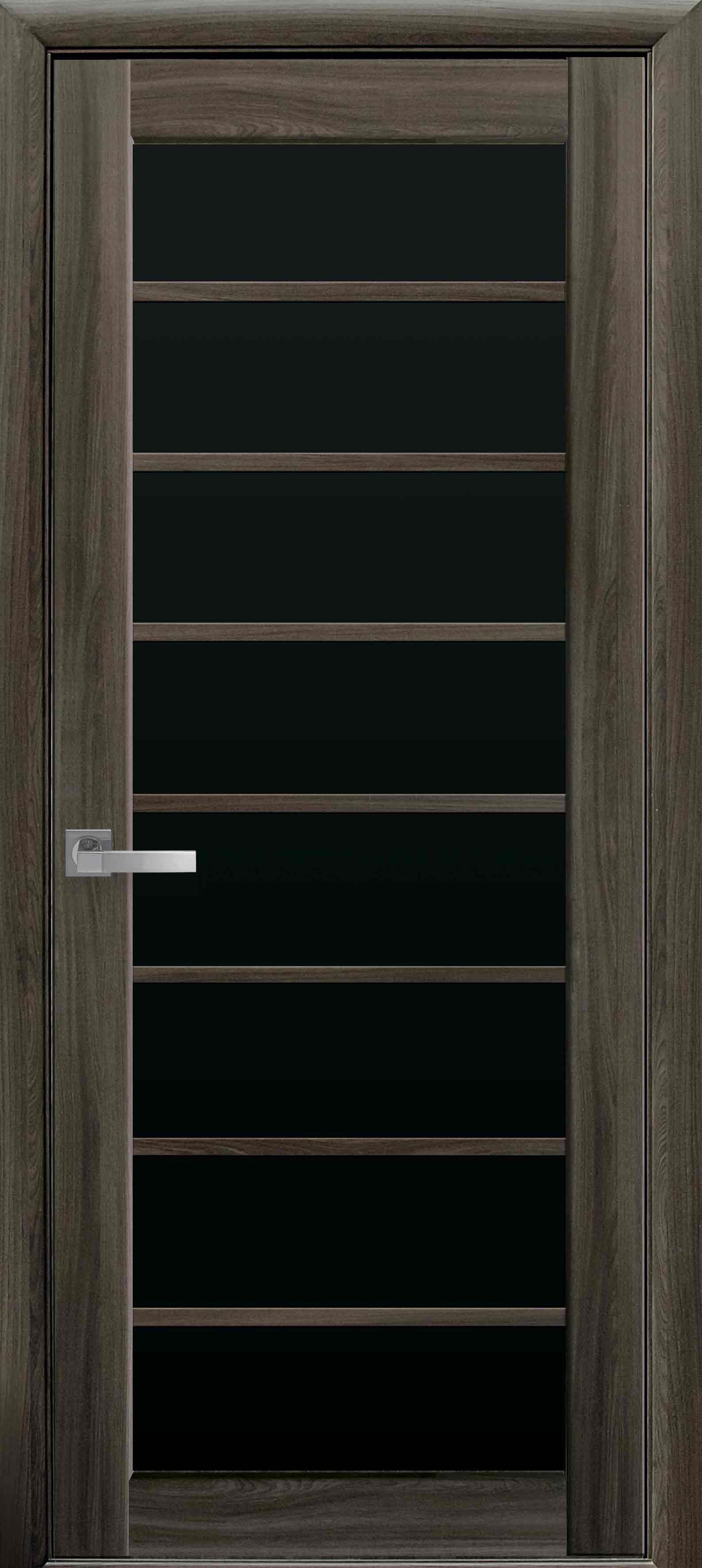 Межкомнатные двери Виола с черным стеклом