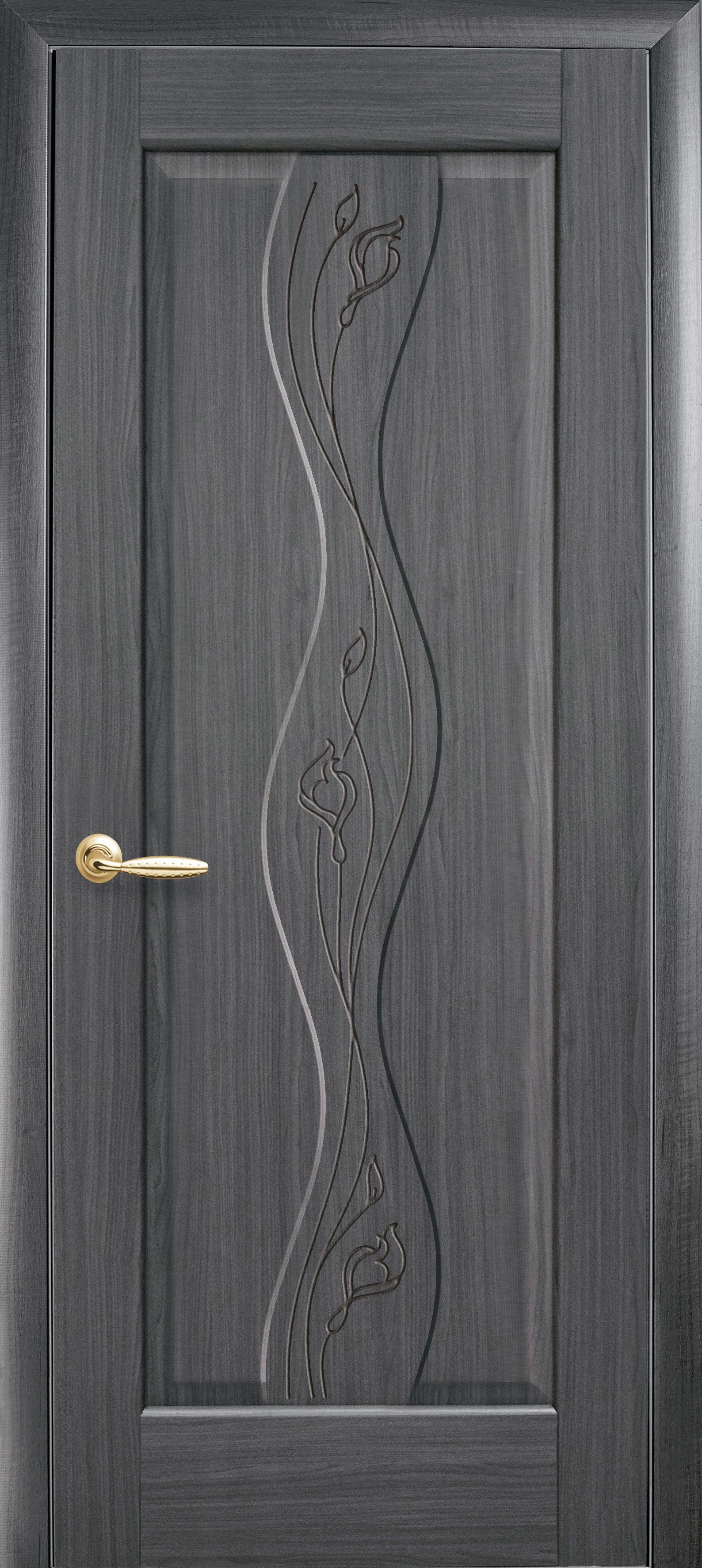 Межкомнатные двери Волна глухое с гравировкой