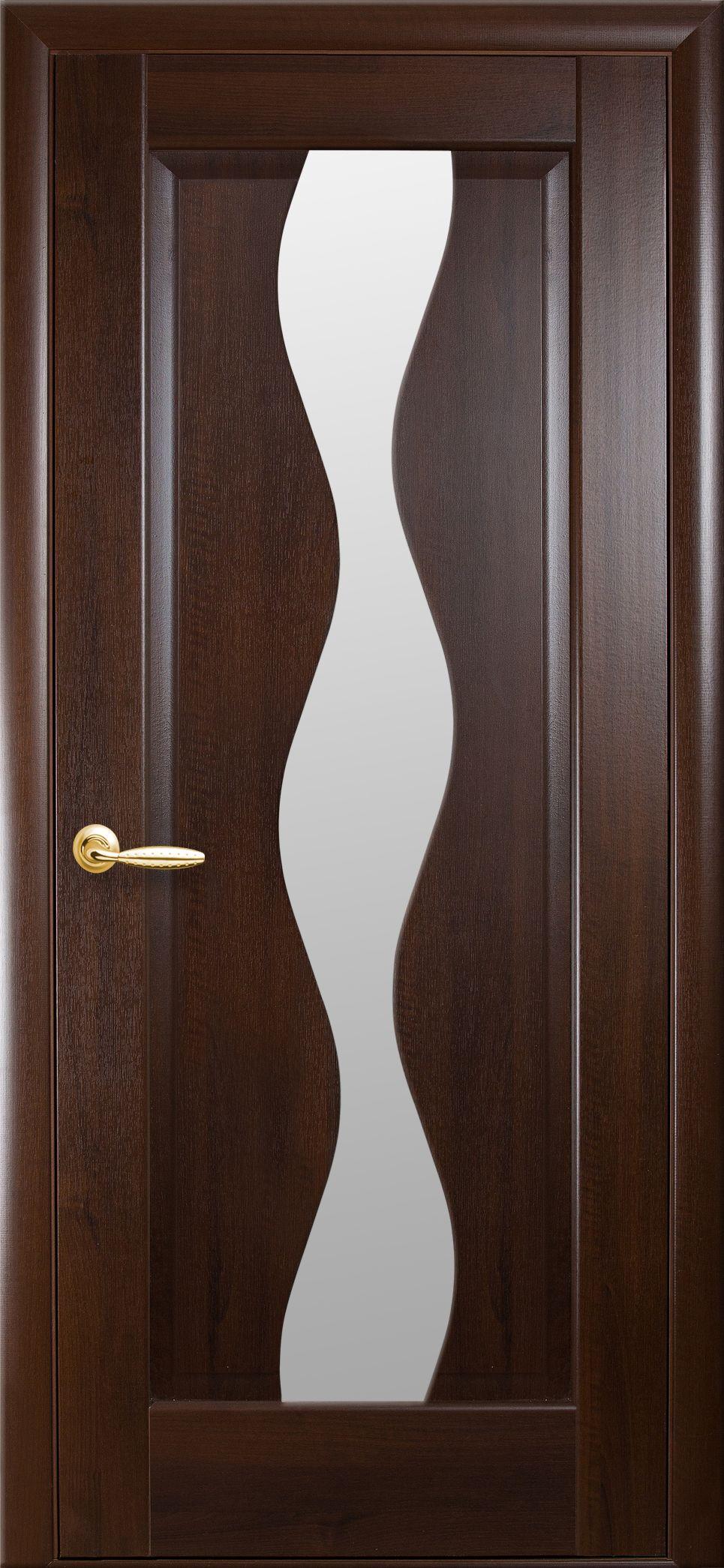 Межкомнатные двери Волна со стеклом сатин