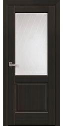 Межкомнатные двери Эпика со стеклом сатин и рисунком Р2, ПВХ DeLuxe Венге New