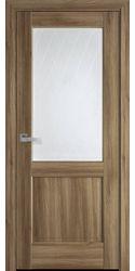 Межкомнатные двери Эпика со стеклом сатин и рисунком Р2, ПВХ DeLuxe Золотой Дуб