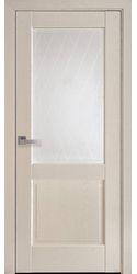 Межкомнатные двери Эпика со стеклом сатин и рисунком Р2, ПВХ DeLuxe Патина