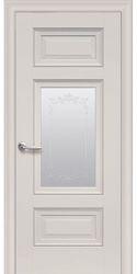 Межкомнатные двери Шарм Со стеклом сатин, молдингом и рисунком , Premium Магнолия