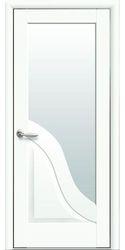 Межкомнатные двери Амата со стеклом сатин, Premium Белый матовый