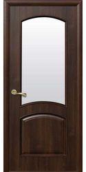 Межкомнатные двери Антре со стеклом сатин, ПВХ DeLuxe Каштан