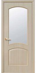 Межкомнатные двери Антре со стеклом сатин, ПВХ DeLuxe Ясень
