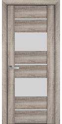 Межкомнатные двери Аскона со стеклом сатин, ПВХ Viva Бук Баварский