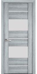 Межкомнатные двери Аскона со стеклом сатин, ПВХ Viva Бук Кашемир