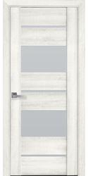 Межкомнатные двери Аскона со стеклом сатин, ПВХ ДеЛюкс Ясень New