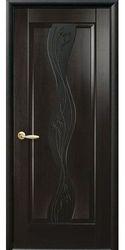 Межкомнатные двери Волна , ПВХ DeLuxe Венге new