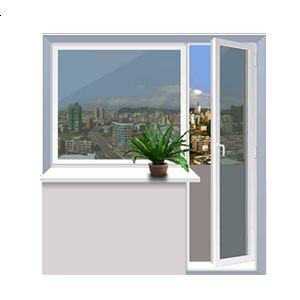 Балконный блок WDS 2040x2160 мм,