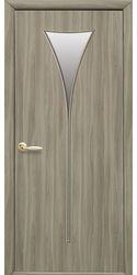 Межкомнатные двери Бора со стеклом сатин, Экошпон  Сандал