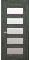 Межкомнатные двери Бронкс со стеклом сатин, Нано Флекс Дуб графит