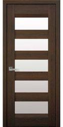 Межкомнатные двери Бронкс со стеклом сатин, Нано Флекс Дуб шоколадный