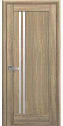 Межкомнатные двери Делла со стеклом сатин, ПВХ DeLuxe Золотой дуб